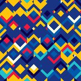 Abstract seamless pattern of geometric shapes. Motion vector illustration