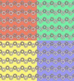 Abstract. seamless pattern with geometric shapes and symbols. Seamless pattern with a geometric shapes on a colorful background Royalty Free Illustration