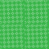 Abstract. seamless pattern with geometric shapes and symbols. Seamless pattern with a tracery pattern on a green background Stock Illustration