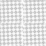 Abstract. seamless pattern with geometric shapes and symbols. Seamless pattern with a  tracery  pattern on a white background Stock Illustration