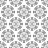 Abstract seamless pattern of geometrical elements. Stylized snowflakes. Stock Images