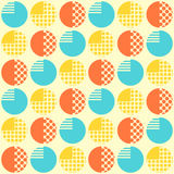 Abstract seamless pattern with geometrical objects. Royalty Free Stock Photos