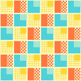 Abstract seamless pattern with geometrical objects. Background for card, invitation, wrapping paper or textile vector illustration