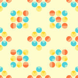 Abstract seamless pattern with geometrical objects. Background for card, invitation, wrapping paper or textile royalty free illustration