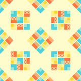 Abstract seamless pattern with geometrical objects. Background for card, invitation, wrapping paper or textile stock illustration