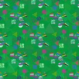 Abstract seamless pattern for girls, boys, clothes. Creative background with dots. Funny wallpaper for textile and fabric. Fashion style Royalty Free Stock Image