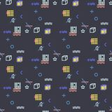 Abstract seamless  pattern for girls, boys, clothes. Creative background with dots, geometric figures Funny wallpaper for te. Xtile and fabric. Fashion style Royalty Free Stock Photos