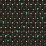 Abstract seamless pattern  gold and dark grey Stock Photography