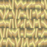 Abstract seamless pattern with gold plates Stock Image