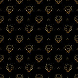 Abstract seamless pattern with golden diamonds. Luxury background design. Modern stylish texture. Vector illustration. Used for wa. Llpaper, pattern fills, web Stock Photography
