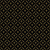 Abstract seamless pattern with golden diamonds. Luxury background design.Modern stylish texture. Vector illustration. Used for wal. Abstract seamless pattern Stock Images