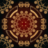 Abstract seamless pattern with golden floral ornaments Stock Photo