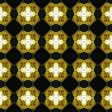Abstract seamless pattern with golden lights Stock Photo