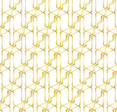 Abstract seamless pattern of Golden lines. Metal structure of lines and angles. Stock Photography