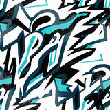 Abstract seamless pattern graffiti in gentle colors Stock Images