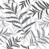 Abstract seamless pattern of grassy, hand drawn  backgroun Stock Image