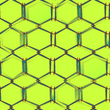 Abstract seamless pattern on green background green figures with corners Royalty Free Stock Images