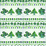 Abstract seamless pattern of green forest Royalty Free Stock Photos