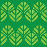 Abstract  seamless pattern green leaves Royalty Free Stock Photo