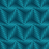 Abstract seamless pattern of green metallic forms. Stock Image