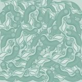 Abstract seamless pattern green a shade stock illustration