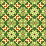 Abstract seamless pattern. Abstract seamless green yellow floral kaleidoscopic pattern Royalty Free Stock Images