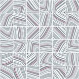 Abstract pattern with grey and cerise striped tiles Stock Photography