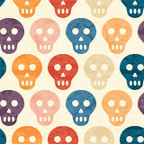 Abstract seamless pattern with grunged colorful dots stock illustration