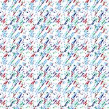 Abstract seamless pattern with grunged colorful object. Abstract seamless pattern with grunged colorful squares on a off-white background. Lovely color palette royalty free illustration
