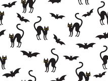 Abstract seamless pattern Halloween stock photography