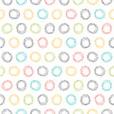 Abstract seamless pattern with hand drawn circles Stock Images