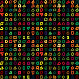 Abstract seamless pattern with hand drawn colorful shapes Stock Photo