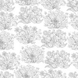 Seamless pattern of hand-drawn colors, for coloring pages. Abstract seamless pattern of hand-drawn colors, coloring pages for kids and adults royalty free stock image