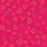 Valentines seamless-18. Abstract seamless pattern with hand drawn hearts. Valentines Day illustration. Design for wallpaper, wrapping paper home textile and royalty free illustration