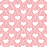 Abstract seamless pattern with hearts Stock Photo