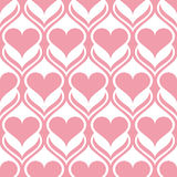 Abstract seamless pattern with hearts Stock Photos