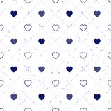 Abstract seamless pattern with hearts. Valetines day, birthday o. R girlish design vector illustration