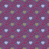 Abstract seamless pattern with hearts. Valetines day or girlish vector illustration