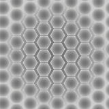 Abstract seamless pattern of hexagons.  illustration Stock Image