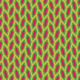Abstract seamless pattern of hexagons. Motion and interlocking geometric forms. Stock Photography