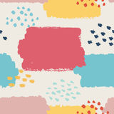 Abstract seamless pattern. illustration for fashion design. Cute repeating background. Hand painted texture. Retro backdrop decoration. Decorative fabric Stock Photography