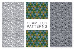 Abstract Seamless Pattern with Intersecting Lines Stock Images