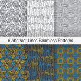 Abstract Seamless Pattern with Intersecting Lines Stock Image