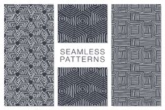 Abstract Seamless Pattern with Intersecting Lines Royalty Free Stock Image