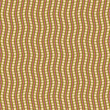 Abstract seamless pattern of intertwining wavy stripes. Visual illusion of hilly surface. Vector illustration for various creative projects royalty free illustration