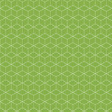 Abstract seamless pattern. Isometric linear geometric figure. Trendy green background. Vector illustration Royalty Free Stock Image