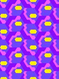 Abstract seamless pattern in isometric style. Mosaic of geometric shapes. Movement forms Royalty Free Stock Image