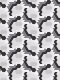 Abstract seamless pattern in isometric style. Mosaic of geometric shapes. Movement forms Stock Photos