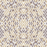 Abstract seamless pattern in isometric style. A picture maze. Royalty Free Stock Photography
