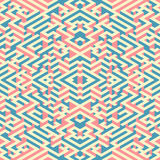 Abstract seamless pattern in isometric style. A picture maze. Royalty Free Stock Photos